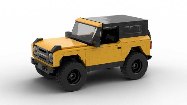 LEGO Ford Bronco 2021 model with roof up