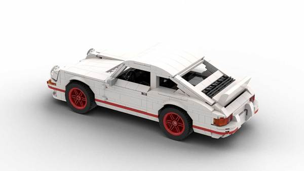 LEGO Porsche 911 Carrera RS model rear view