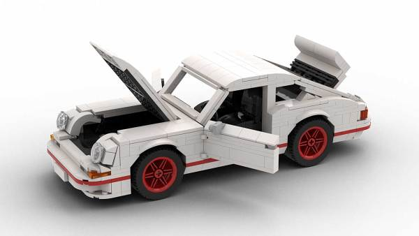 LEGO Porsche 911 Carrera RS model with opening parts