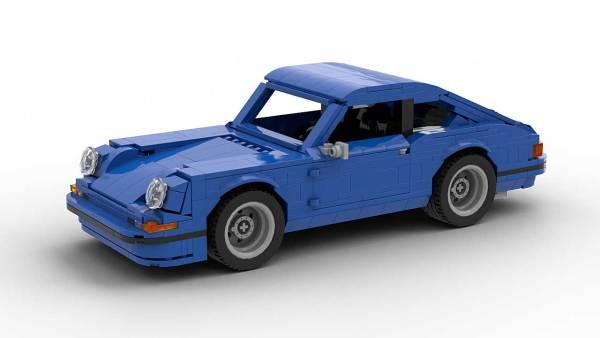 LEGO Porsche 911 Classic model 3/4 top view