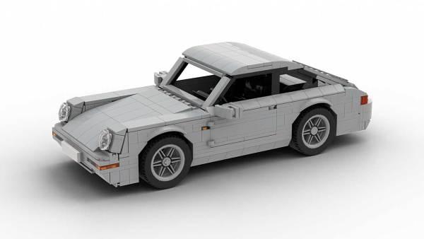 LEGO Porsche 993 Carrera S Model Top View