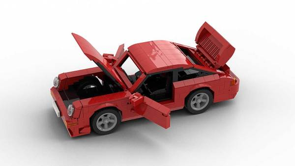 LEGO Porsche 993 GT2 model with opening parts
