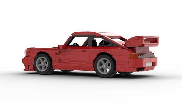 LEGO Porsche 993 GT2 model rear