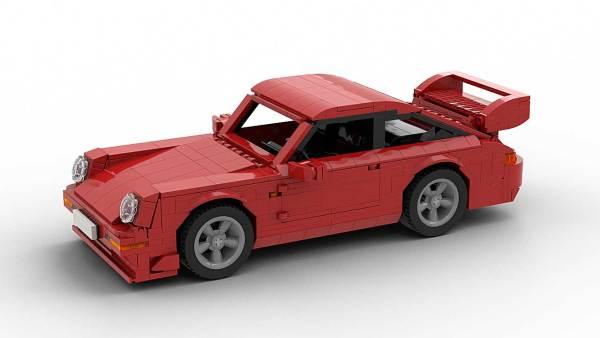 LEGO Porsche 993 GT2 model top front view