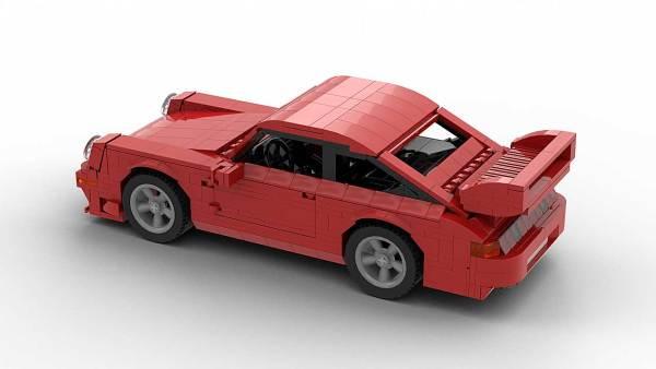 LEGO Porsche 993 GT2 model top rear angle view
