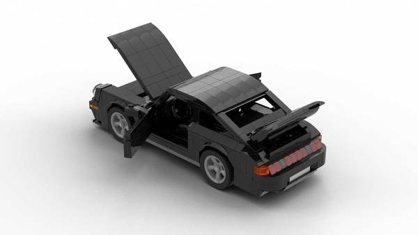 LEGO Porsche 993 Turbo S model with opening doors