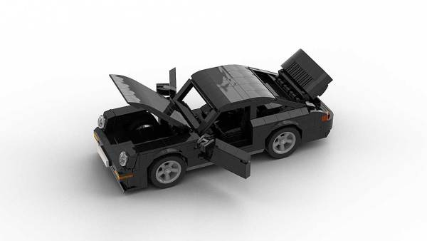 LEGO Porsche 993 Turbo S model with opening parts