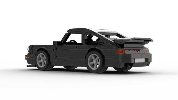 LEGO Porsche 993 Turbo S model rear view