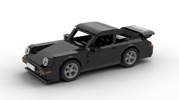 LEGO Porsche 993 Turbo S model top view