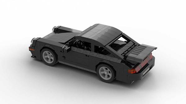 LEGO Porsche 993 Turbo S model from top rear angle