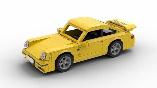 LEGO Porsche 993 Turbo model from top view