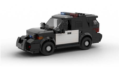 LEGO Ford Explorer Police Interceptor Black & White model
