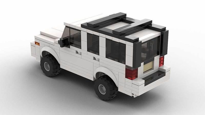 LEGO Jeep Commander model top rear view