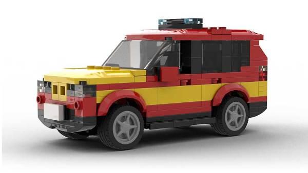 LEGO BMW X3 Fire Dep model
