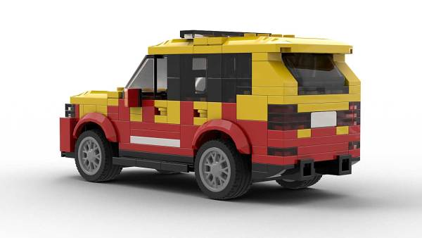 LEGO BMW X5 E70 Fire Dep model rear view