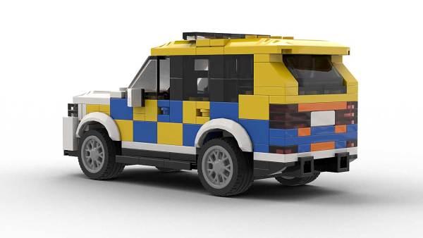 LEGO BMW X5 E70 Police Model Rear View