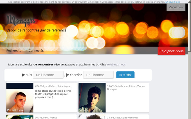 Application site de rencontre gay