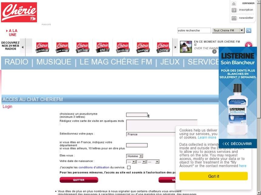 Chat Cherie-FM - Test, avis, infos et tarif