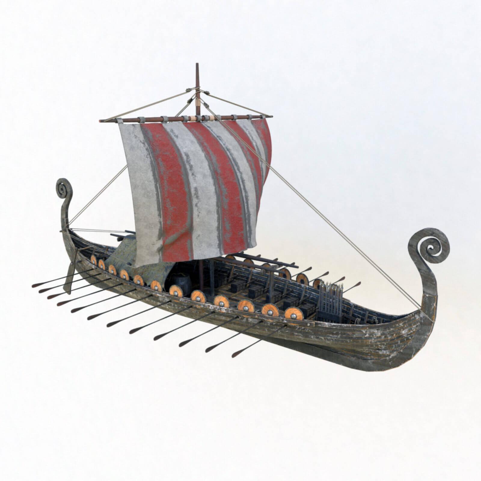Viking Ship Drakkar 3d Model