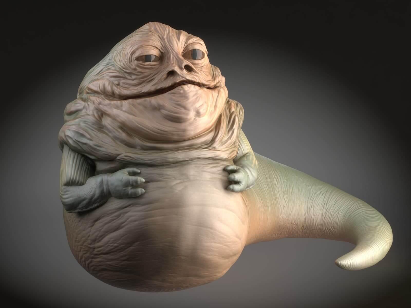 Star Wars Jabba The Hutt 3d Model
