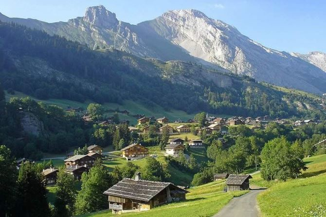 The traditional village of Chinallion, Savoie