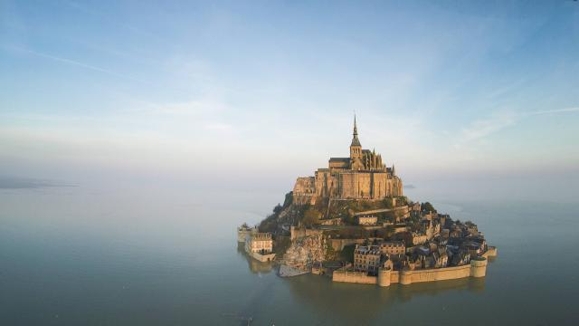 Mont Saint-Michel become an island again. Photo: Philippe Cherel/Ouest France