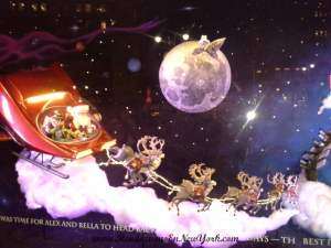 Macy's Herald Square Holiday Windows. Santa, Alex and Bella traveling to Mars