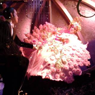 Sleeping Beauty in Saks Fifth Avenue holiday window