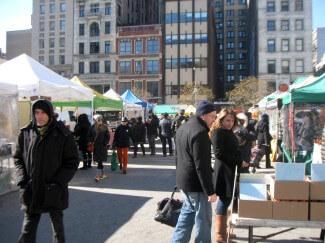 A Frozen Saturday at the Union Square Greenmarket
