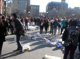 The Aftermath..Pillow Fight NYC 2015