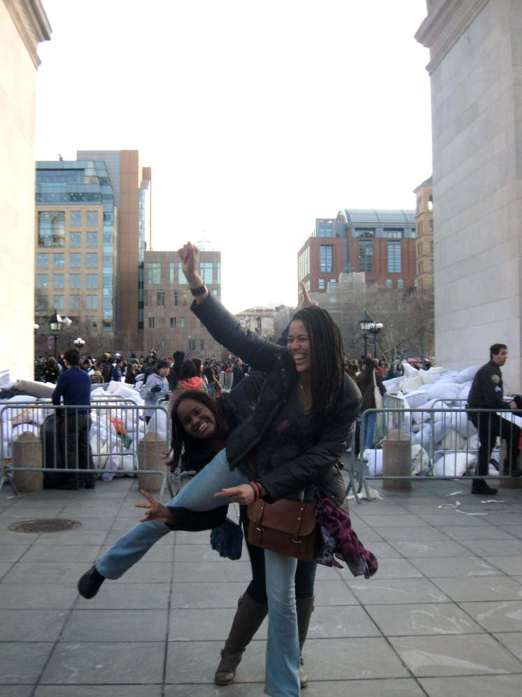 Being silly after the fun #PillowFIghtNYC2015