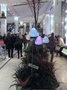 Arrangements with colored bulb lights #macysflowershow2015