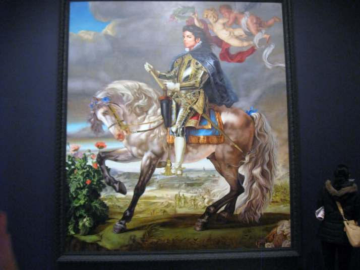 Equestrian Portrait of King Phillip II (Michael Jackson) #KehindeWiley