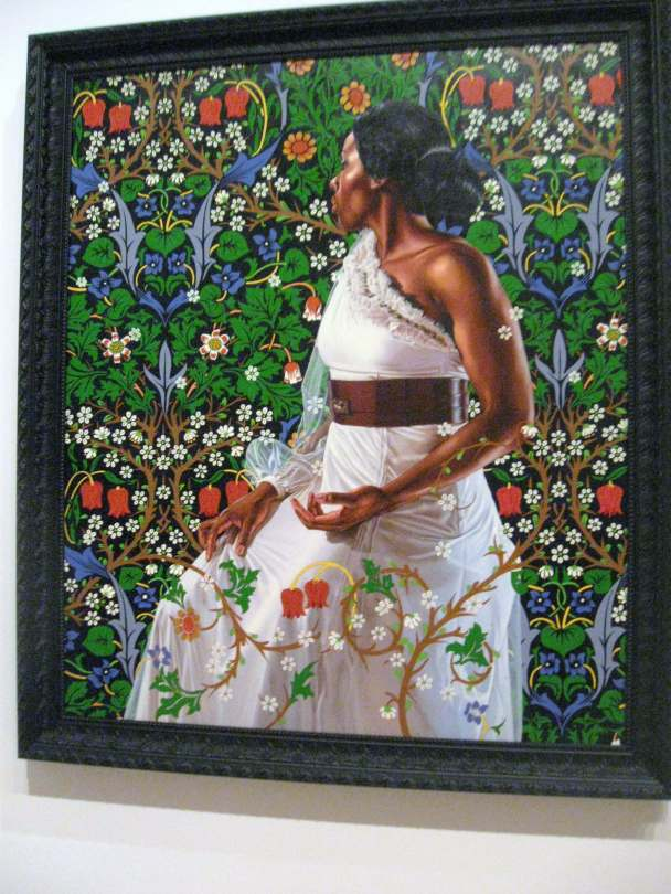 "Mrs. Siddons , oil on canvas, from the series , ""An Economy of Grace"" #KehindeWiley"
