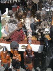 Hand carved wooden goods at B.A.M. Dance Africa 2015