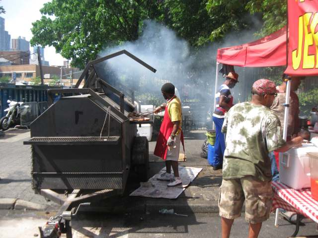 The smell and smoke make you drool ! Jerk Chicken at B.A.M. Dance Africa 2015