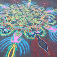 Sand Painting At Union Square Park