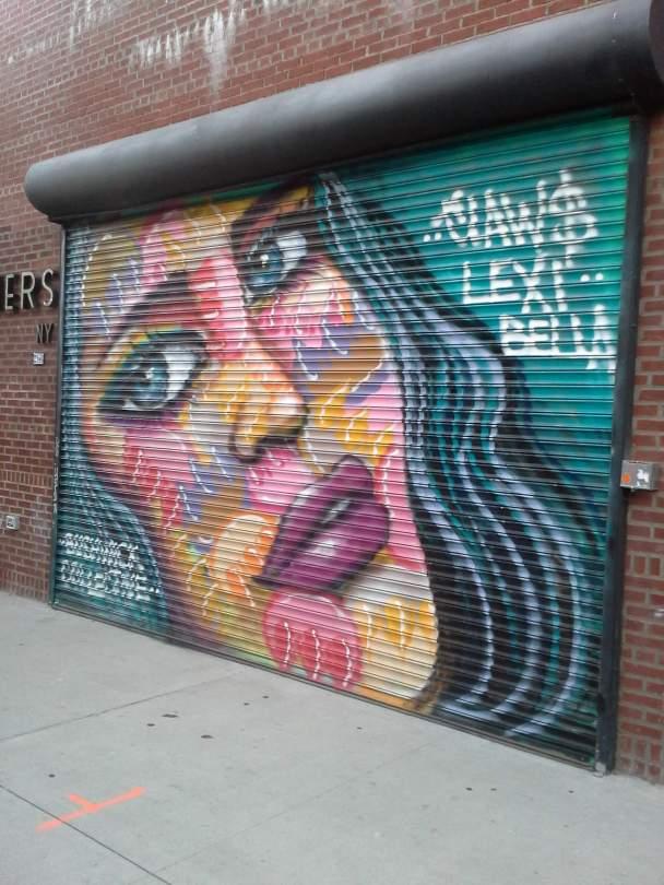 Lexi Bella, the Bushwick Collective, NYC, street art