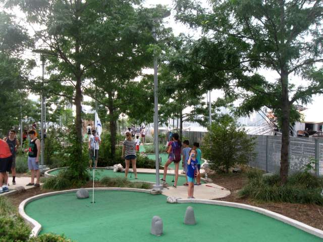 Mini Golf at Hudson River Park, NYC