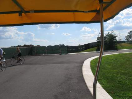 Bike Path going uphill, Governor's Island, NYC
