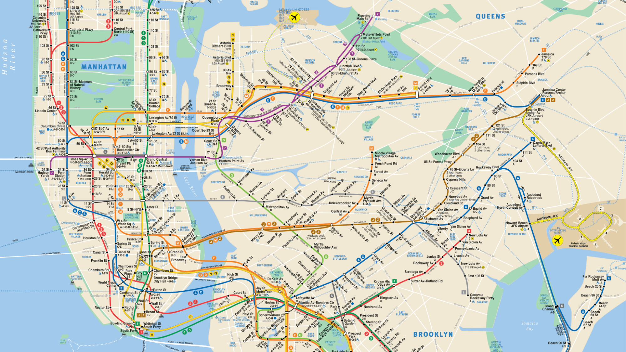 Map Of The New York Subway.8 Tips To Read A Nyc Subway Map Rendezvous En New York