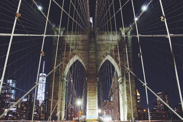 Brooklyn Bridge at Night , NYc , Rendezvous En New York