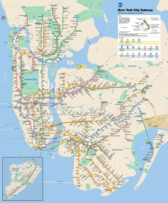 NYC Subway Map, How to use the subway map