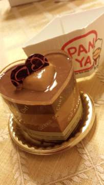 Chocolate orange mousse at Panya Bakery NYC