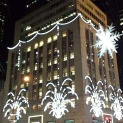 Tiffany s is dressed in dangling earrings in NYC, Christmas in July