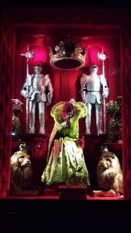 The Crown Jewels, the windows at Bergdorf's in NYC 2015, Christmas in July
