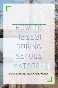 How to Hanami A Sakura Matsuri Rendezvous