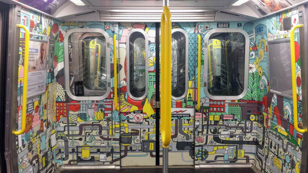 A Colorful Surprise: New Art on the E Train