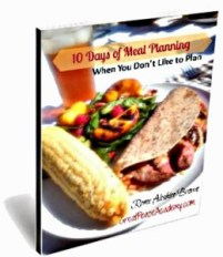 Meal Planning When You Don't Like to Plan | Renée at Great Peace