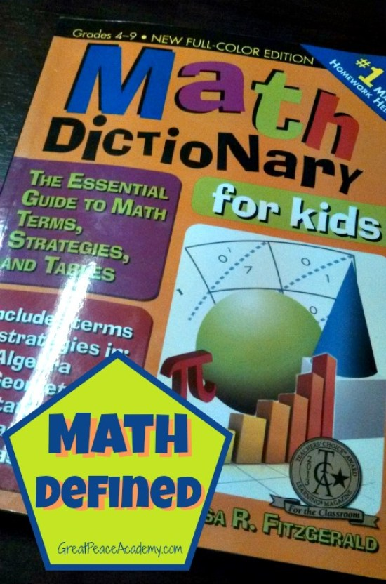Math Defined with Math Dictionary | GreatPeaceAcademy.com #math #gtchat